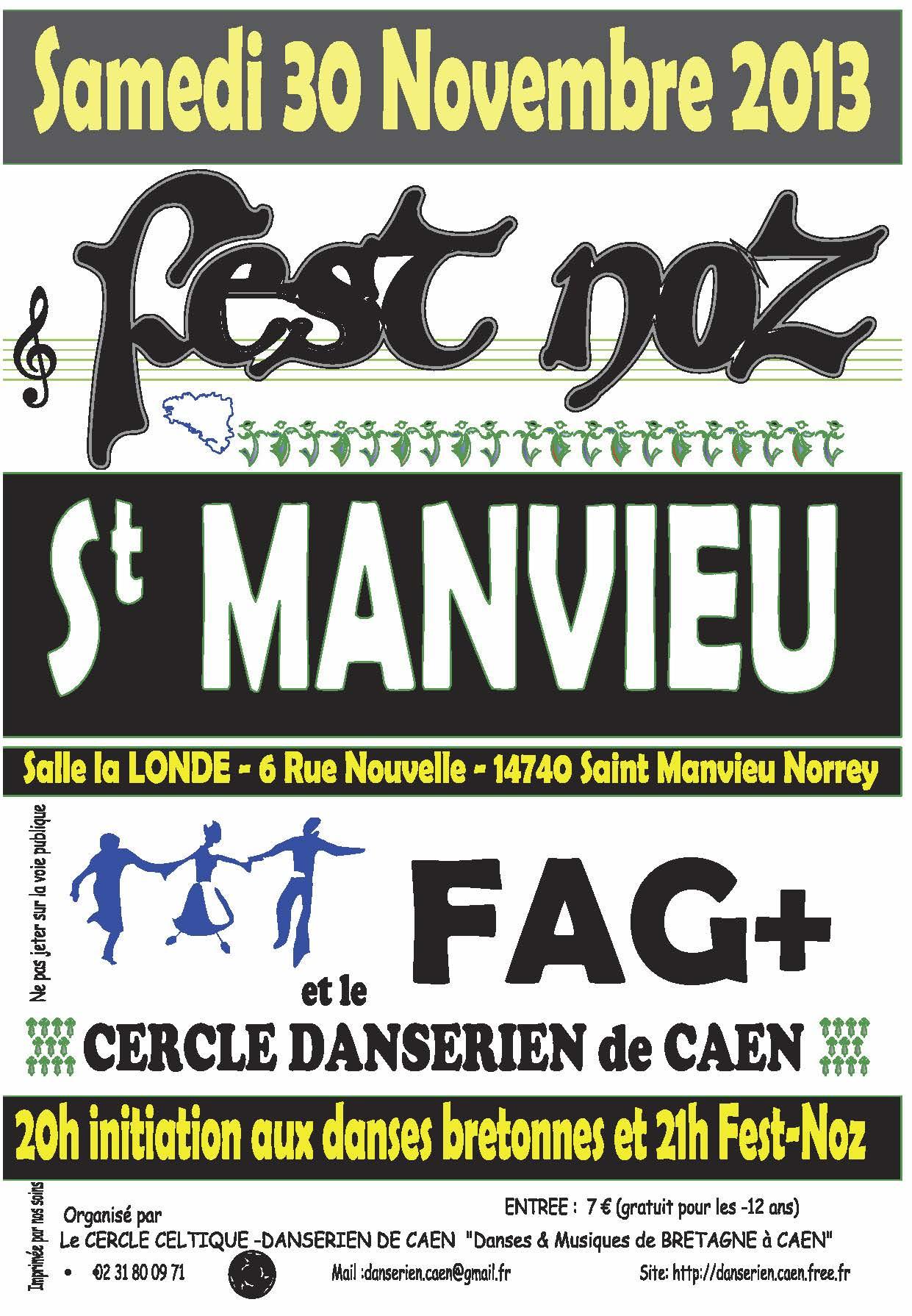 Affiche Fest-noz  à Saint-Manvieu-Norrey
